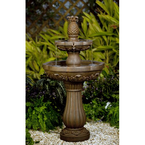 Classic Polyresin and Fiberglass Pineapple Water Fountain