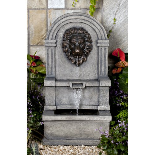 Classic Polyresin and Fiberglass Lion Face Water Fountain