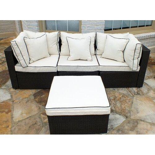 Hampton Wicker Sofa Set