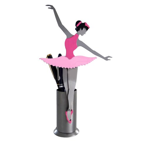 H & K SCULPTURES Desk Accessory Ballerina Pen Holder