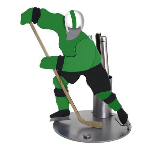 H & K SCULPTURES Desk Accessory Hockey Pen Holder