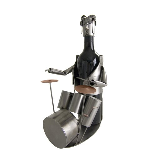 H & K SCULPTURES Drummer Wine Caddy