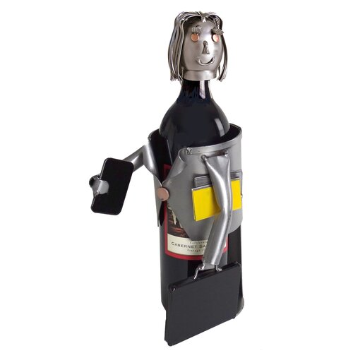 H & K SCULPTURES Female Executive Wine Bottle Holder