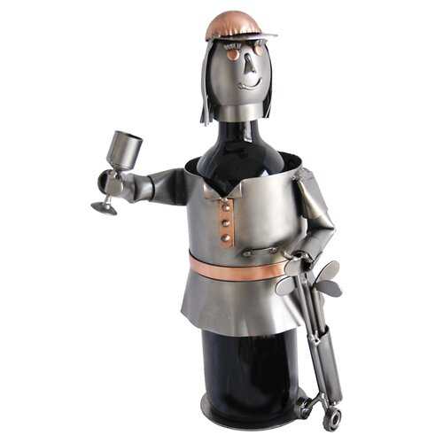 Female Golfer Wine Bottle Holder