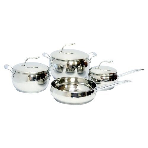 Gourmet Chef Stainless Steel 7-Piece Cookware Set