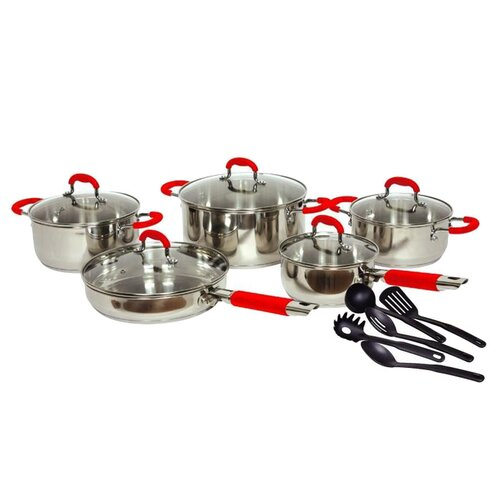 Gourmet Chef Classic 2 Stainless Steel 15-Piece Cookware Set