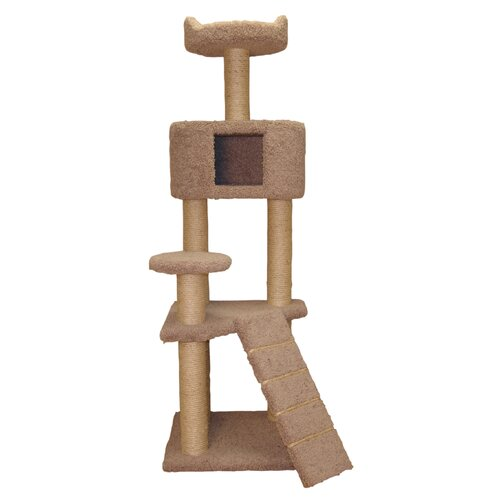 """Family Cat 64"""" Cat Tree with Condo and Sky Lookout"""