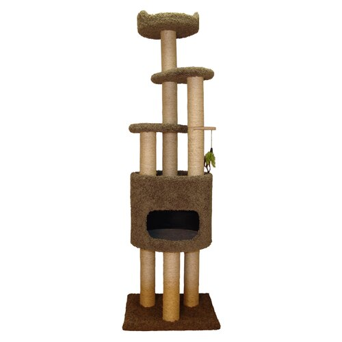 "Family Cat 73"" Condo Cat Tree with Sky Lookout and Booster Base"