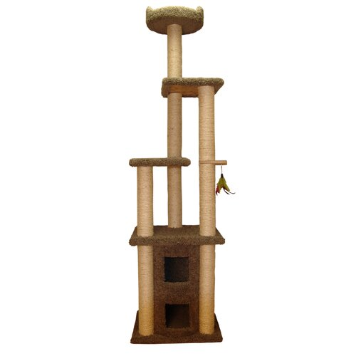 """Family Cat 85"""" Two Story Cat Condo with Sky Lookout"""