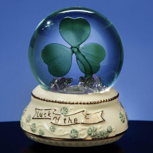 San Francisco Music Box Shamrock Lighted Water Globe