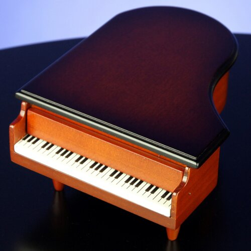 San Francisco Music Box Wooden Piano Ring Accessory Box