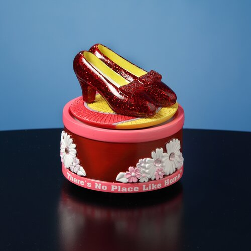San Francisco Music Box The Wizard of Oz Ruby Slippers Rotating Figurine
