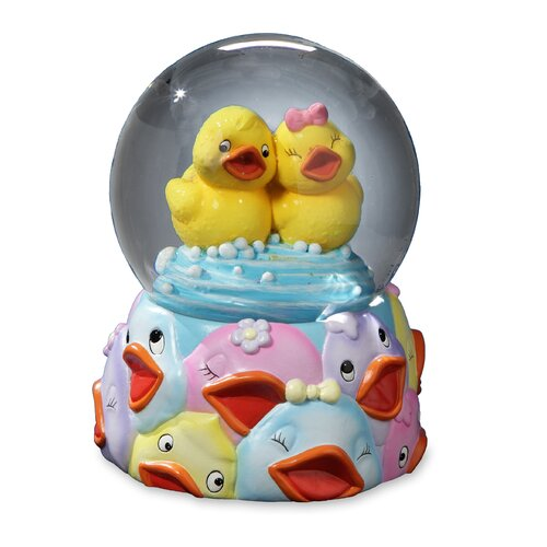San Francisco Music Box Jingle Jumbles Rubber Ducky Water Globe