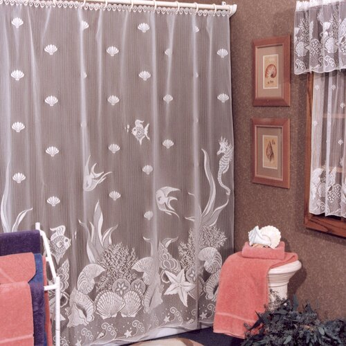 Heritage Lace Seascape Polyester Shower Curtain
