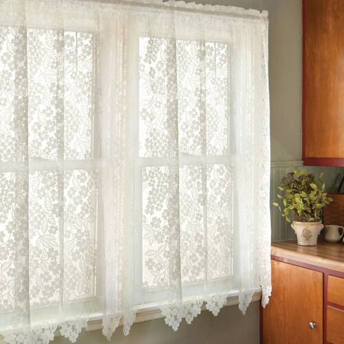 Heritage Lace Dogwood Rod Pocket Curtain Single Panel