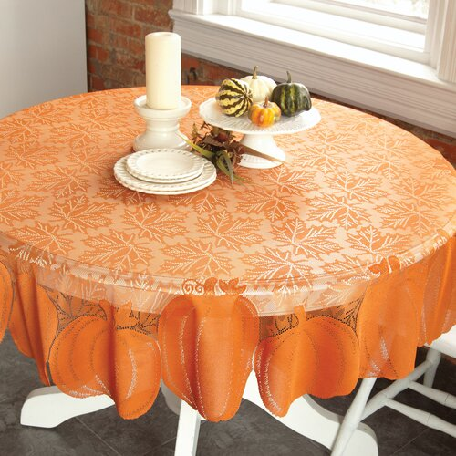 Heritage Lace Pumpkin Round Table Topper