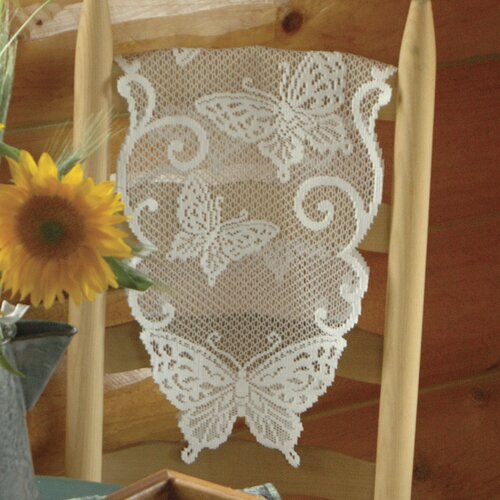 Heritage Lace Butterflies Table Runner