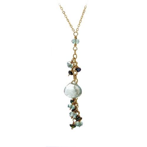 Rafia Jewelry 14k Gold Gemstone Pendant Necklace