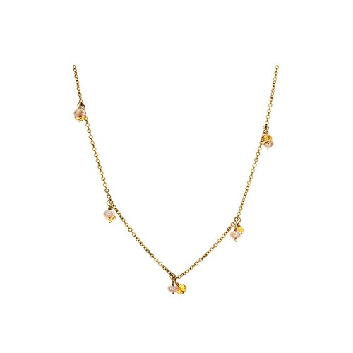 14k Gold Gemstone Necklace