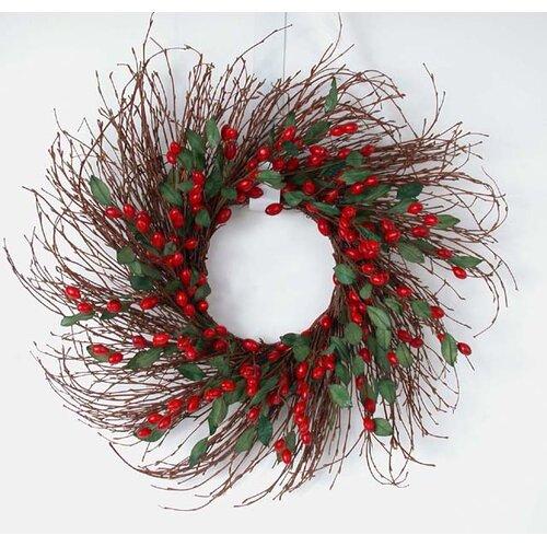 Mills Floral Cranberry Wreath