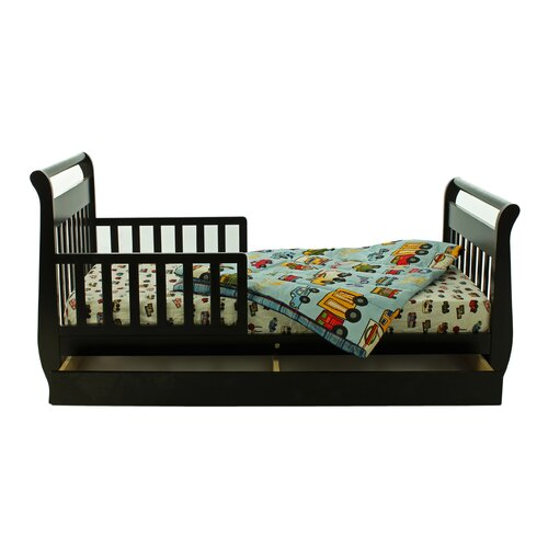 Dream On Me Sleigh Toddler Bed with Storage Drawer