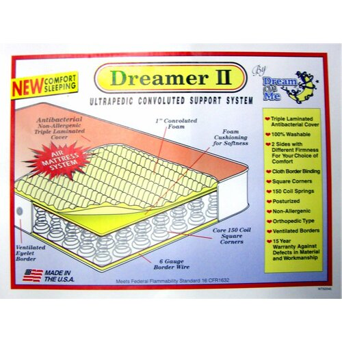 Dream On Me Convoluted Orthopedic Foam Innerspring Crib Mattress