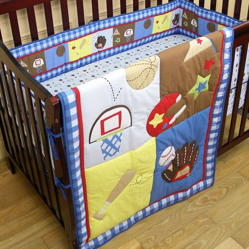 All-Star Athlete 3 Piece Crib Bedding Set