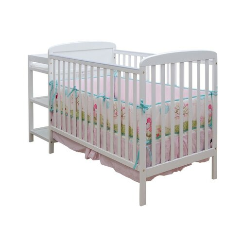 Dream On Me 2-in-1 Convertible Crib Set and Changing Table Combo