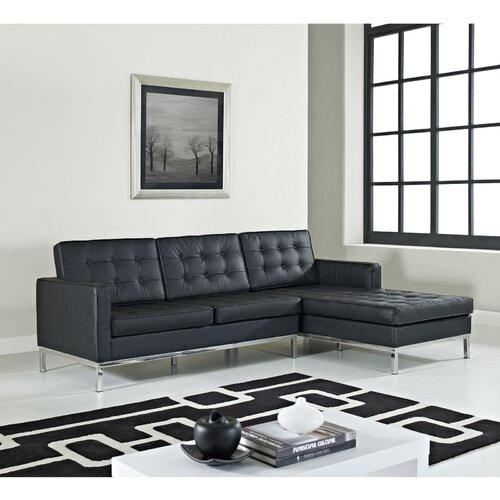 Loft Leather Right Arm Sectional Sofa