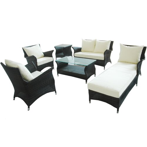 Wing 6 Piece Deep Seating Group with Cushions