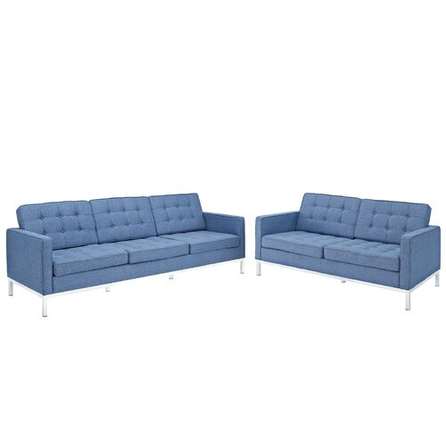 Loft 2 Piece Loveseat and Sofa Set
