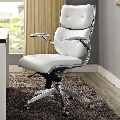 Push Mid-Back Office Chair with Arms