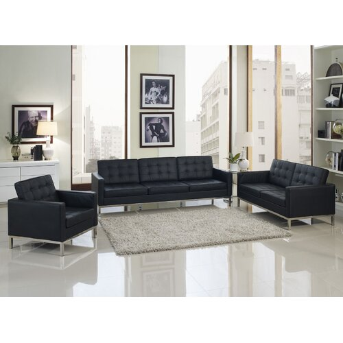 Loft 4 Piece Leather Sofa Set