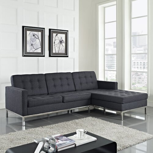 Loft Wool Right Arm Sectional Sofa