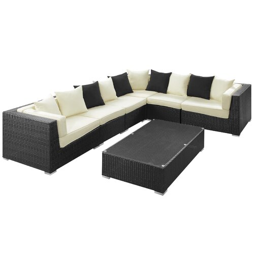 Modway Lambid 7 Piece Sectional Deep Seating Group with Cushions