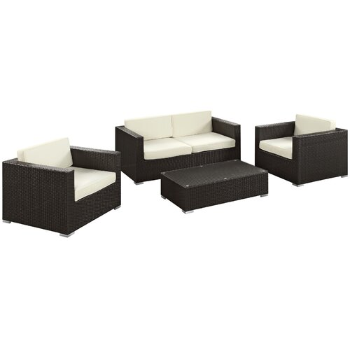 Concert 4 Piece Deep Seating Group with Cushions