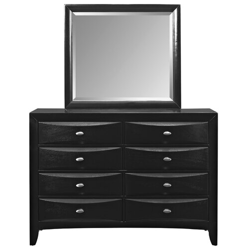 Harrison 8 Drawer Dresser Mirror