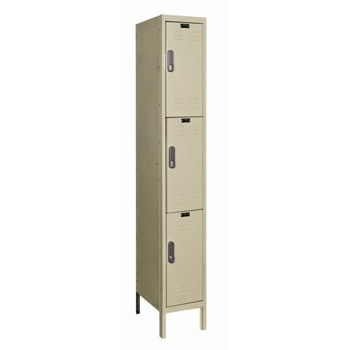 Hallowell DigiTech Electronic Locker Triple Tier 1 Wide (Knock-Down) (Quick Ship)