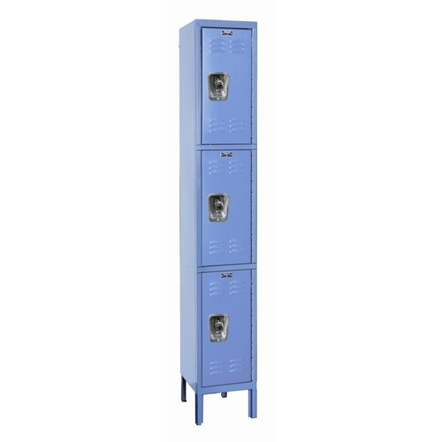 Hallowell ReadyBuilt Locker Triple Tier 1 Wide (Assembled) (Quick Ship)
