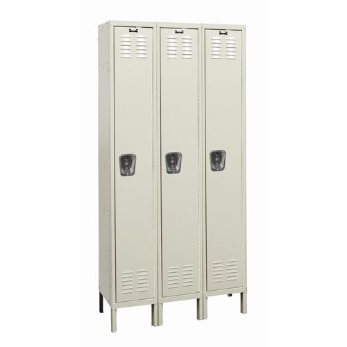Hallowell Galvanite 1 Tier 3 Wide School Locker