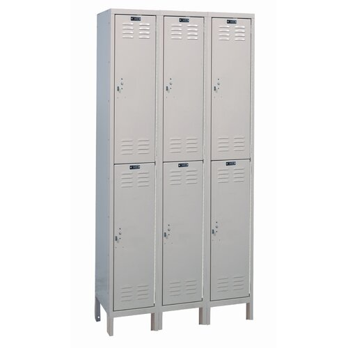 Hallowell Value Max Locker Double Tier 3 Wide (Knock-Down) (Quick Ship)