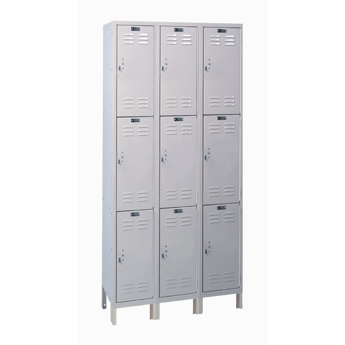 Hallowell Value Max Locker Triple Tier 3 Wide (Knock-Down) (Quick Ship)
