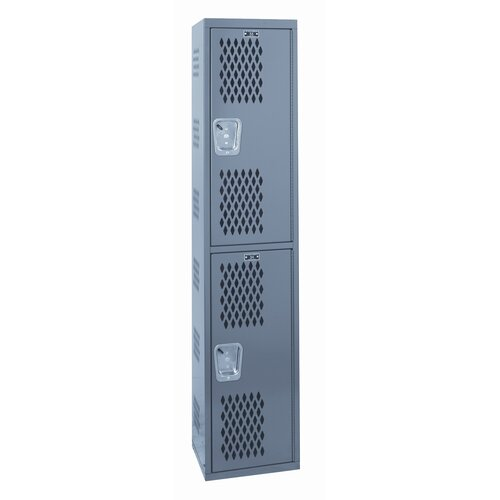 Hallowell Welded Single-Point Ventialted Locker Double Tier 1 Wide (Quick Ship)