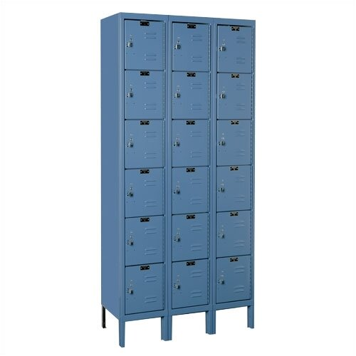 Hallowell Premium Locker 6 Tier 3 Wide (Assembled) (Quick Ship)