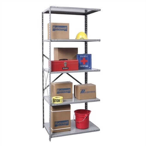 Hallowell Hi-Tech Open Type Adder 5 Shelf Shelving Unit