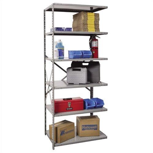 Hallowell Hi-Tech Open Type Adder 6 Shelf Shelving Unit