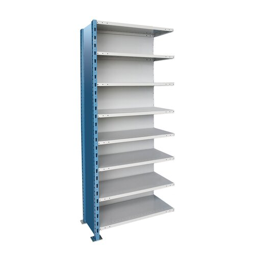 Hallowell H-Post High Capacity Closed Style 8 Shelf Shelving Unit Add-on