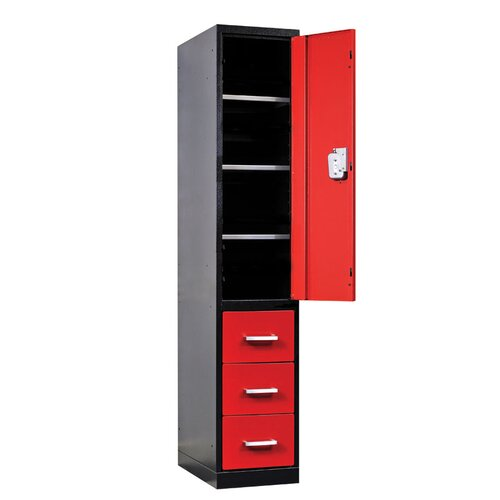 Hallowell Fort Knox Locker - Half Height Door and Three Drawers (Quick Ship)