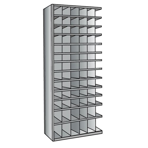 "Hallowell Hi-Tech Bin 87"" H 13 Shelf Shelving Unit Add-on"