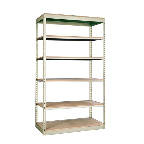 "Hallowell Rivetwell Single Rivet Boltless 84"" H 6 Shelf Shelving Unit Starter"